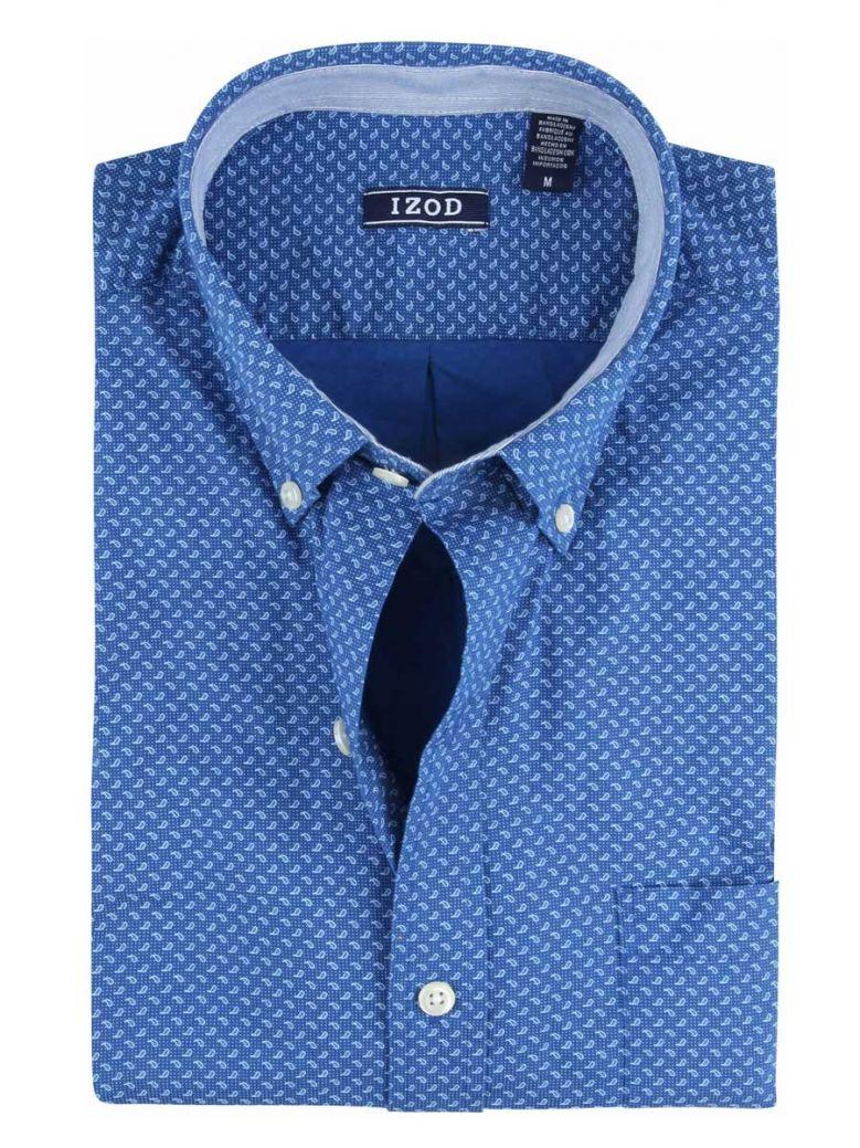 IZOD True Blue Drops Print Long Sleeve Shirt