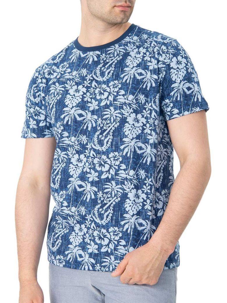 IZOD Club Blue Island Print T-Shirt