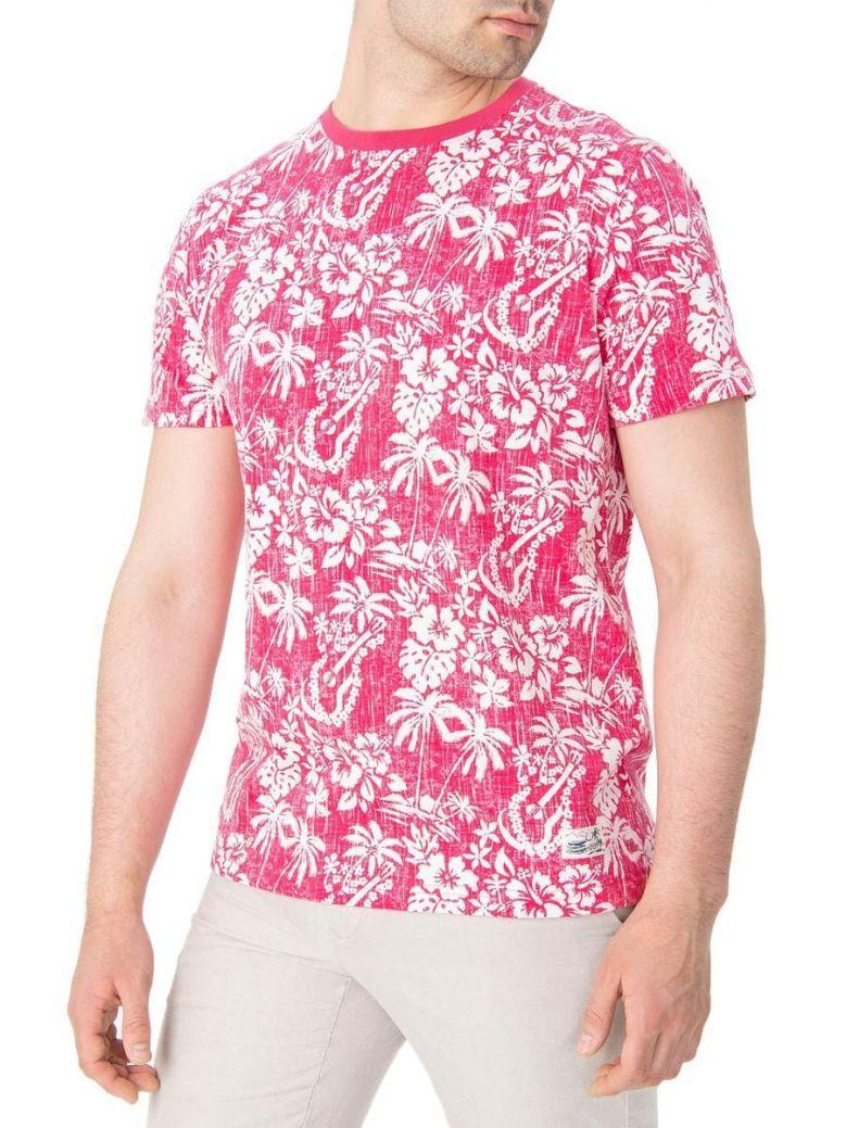 IZOD Claret Red Island Print T-Shirt