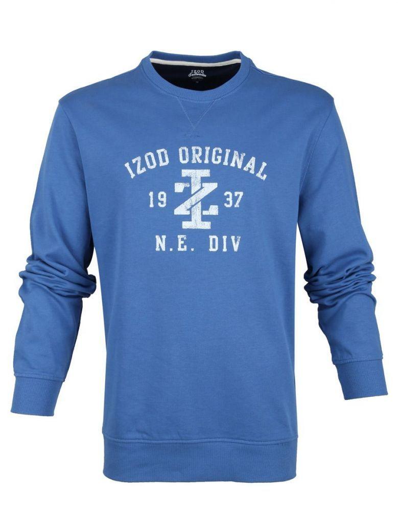 IZOD Federal Blue Distressed Logo Sweater