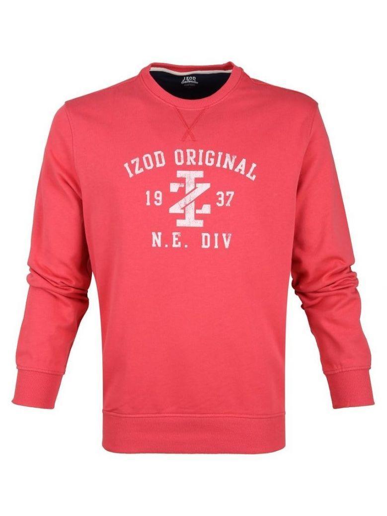 IZOD Claret Red Distressed Logo Sweater