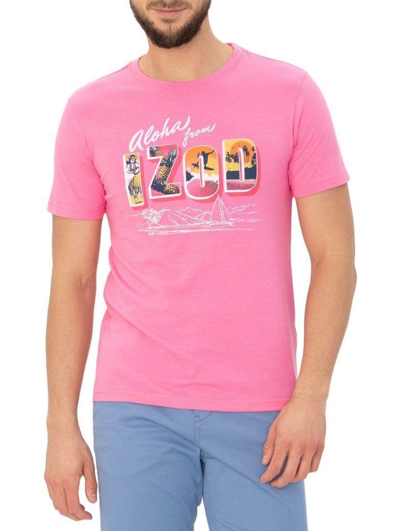 IZOD Pink Carnation Aloha Graphic T-Shirt
