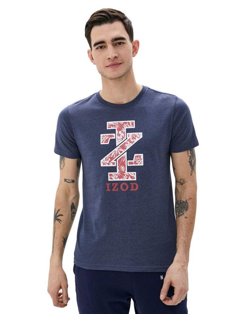 IZOD Anchor Blue Tropical Floral Graphic T-Shirt