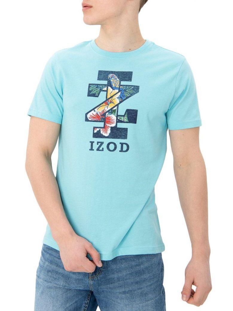 IZOD Angel Blue Tropical Logo T-Shirt