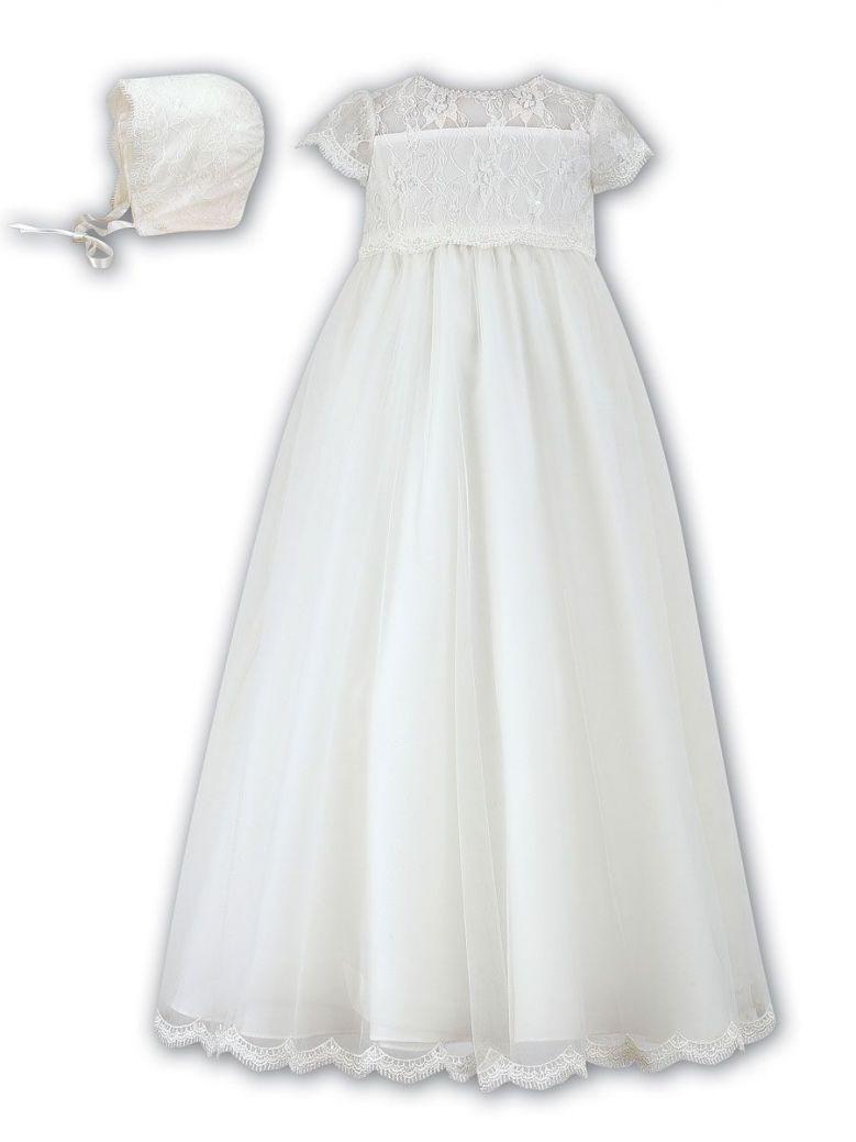 Sarah Louise Ivory Christening Gown & Bonnet
