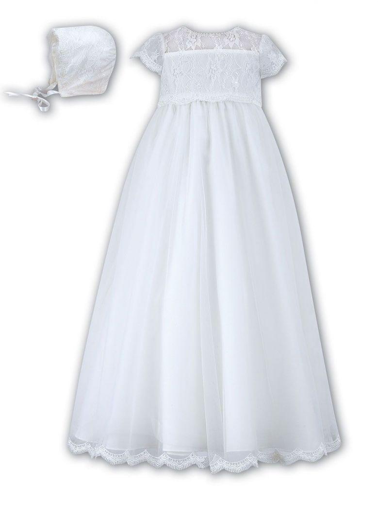 Sarah Louise White Christening Gown & Bonnet
