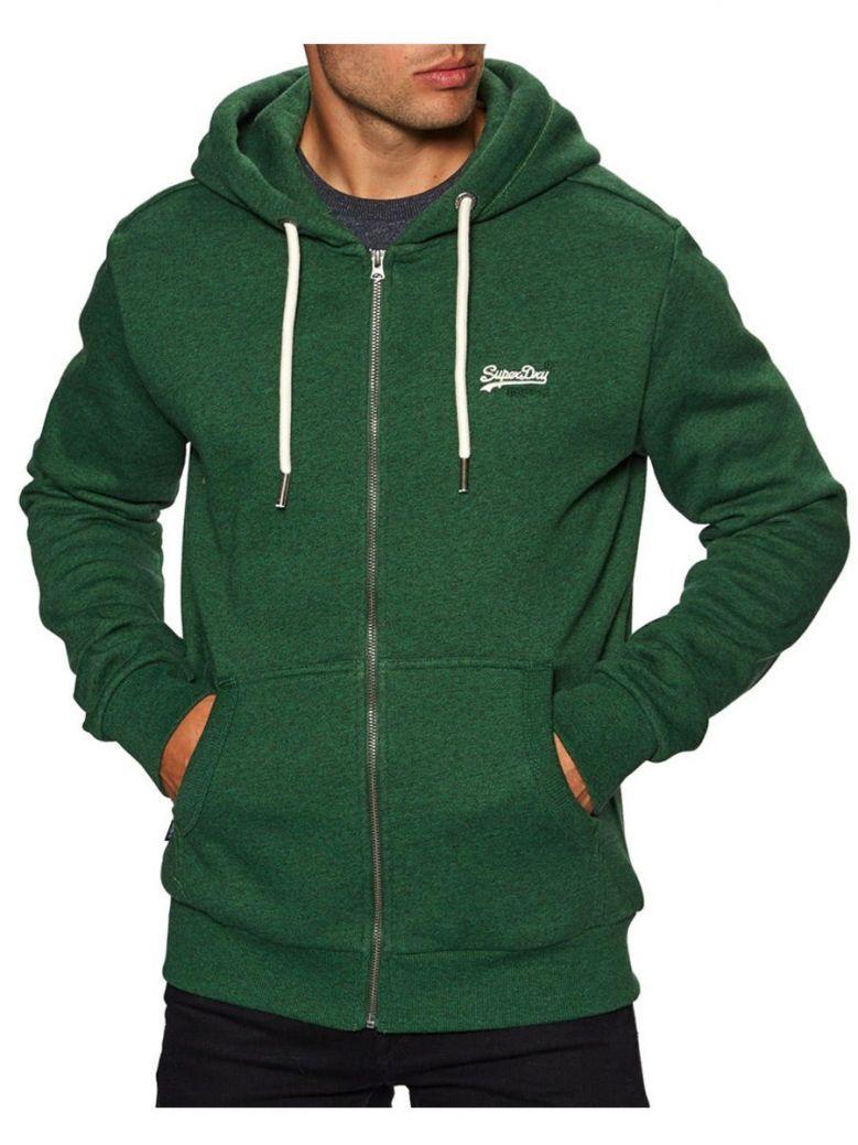 Superdry Green Orange Label Classic Zip Hoodie