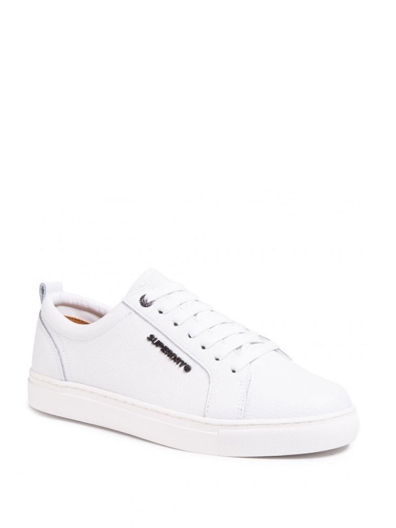 Superdry White Truman Leather Lace Up
