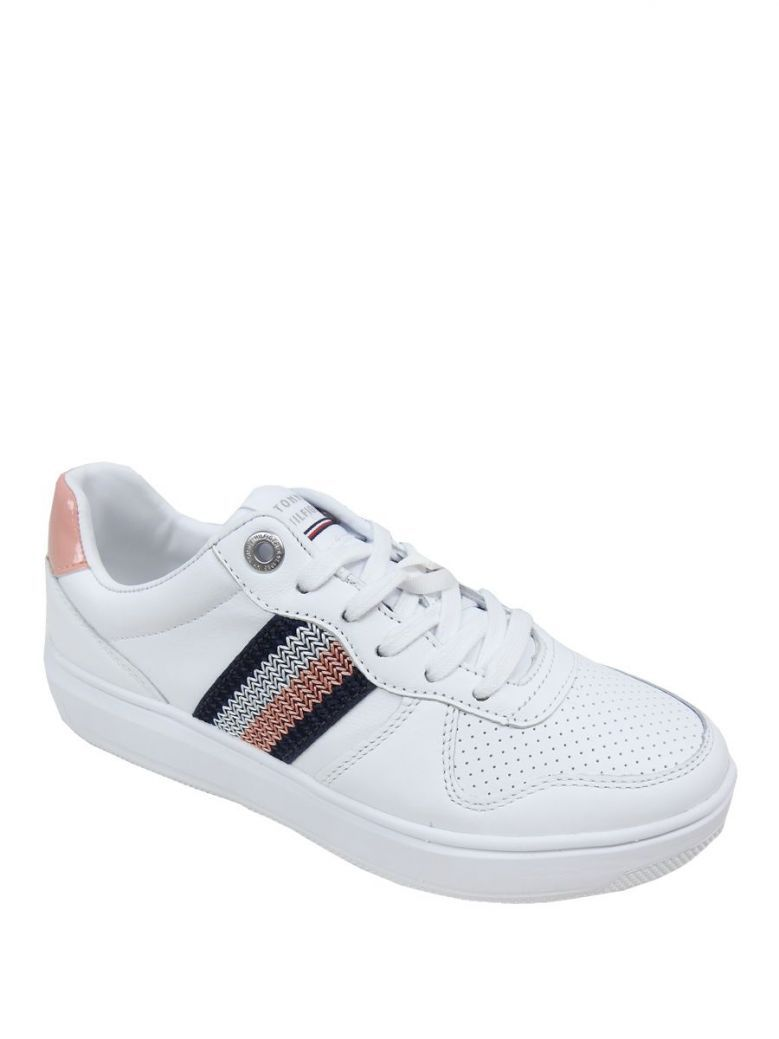 Tommy Hilfiger Clay Pink Leather Cupsole Trainers