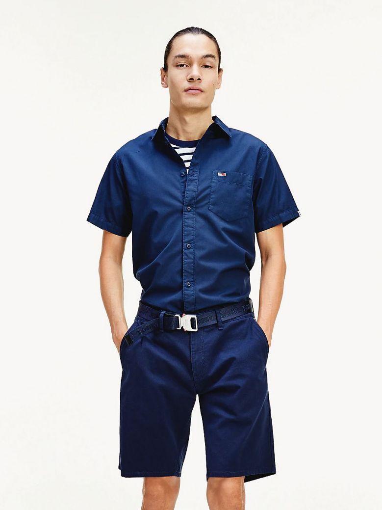 Tommy Jeans Twilight Navy Short Sleeve Patch Pocket Shirt