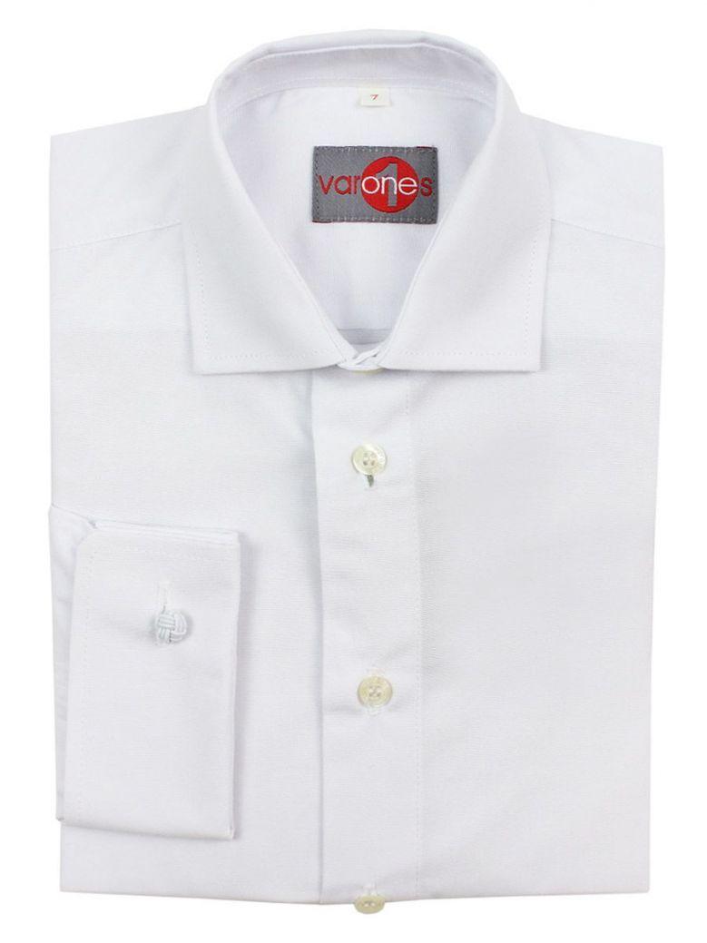 Varones White Long Sleeve Shirt