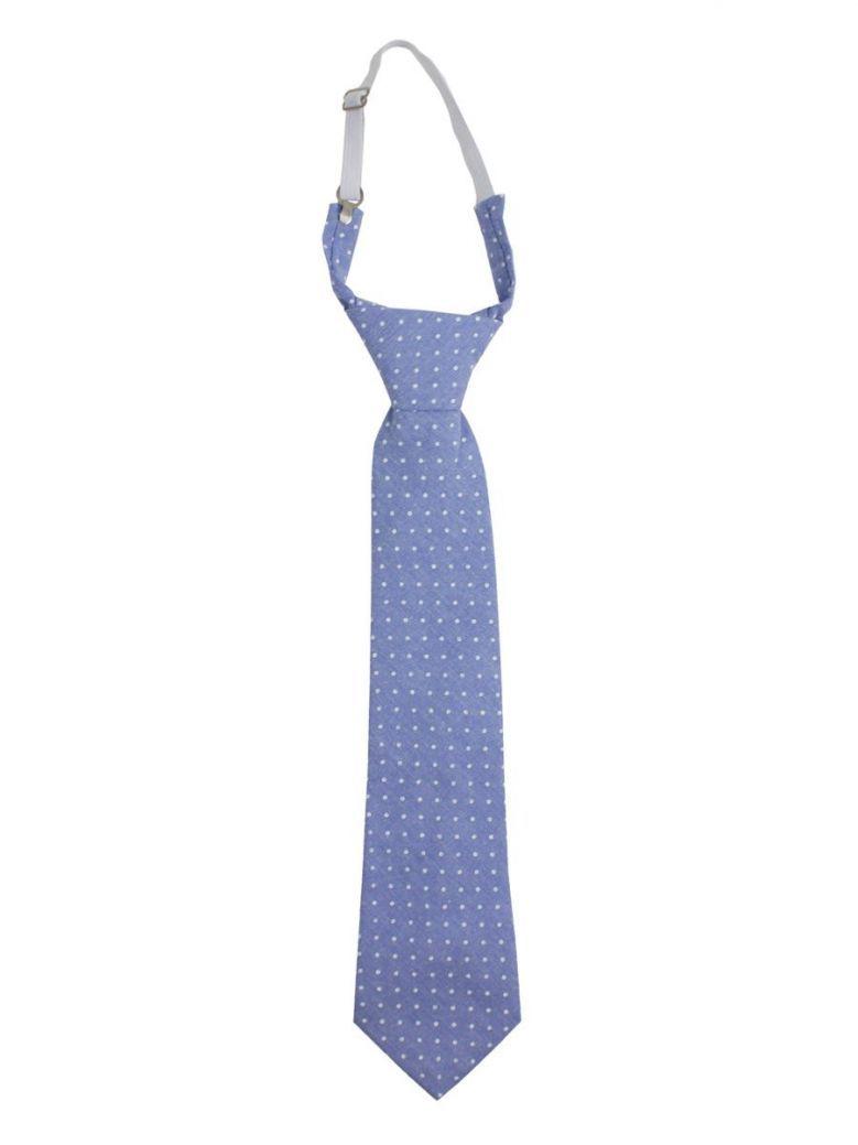 Varones Blue Polka Dot Tie