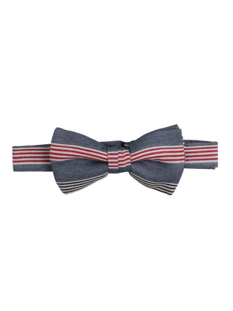 Varones Denim Stripe Bowtie