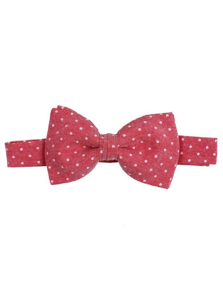 Varones Red Polka Dot Bow Tie