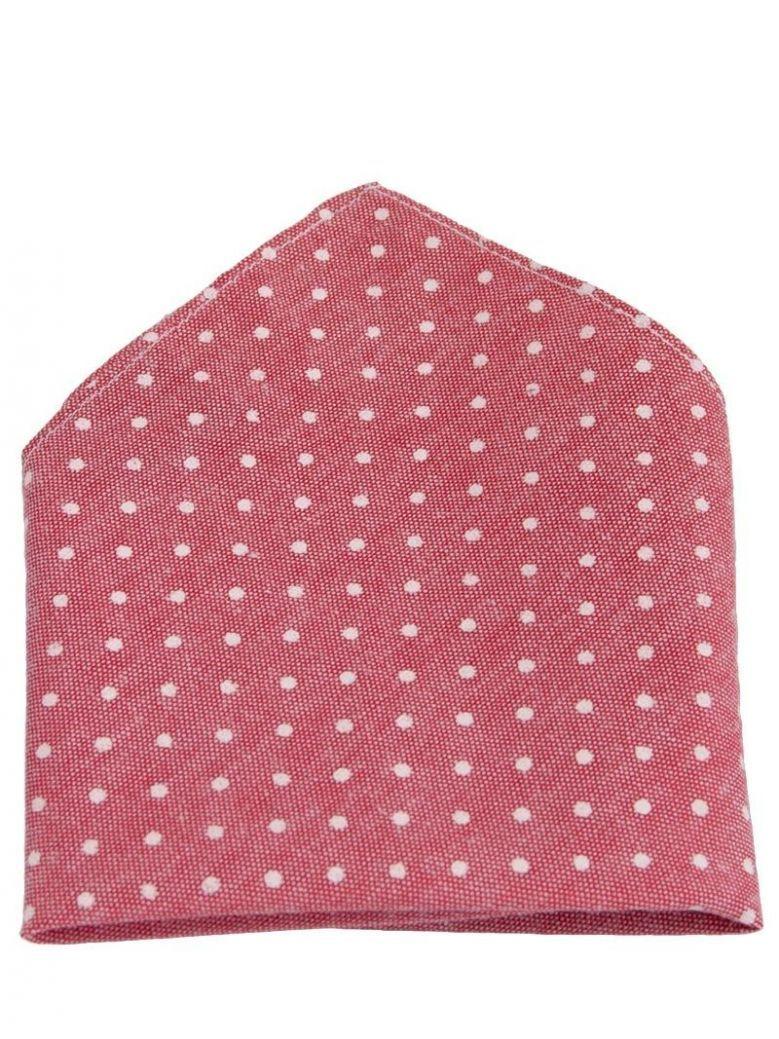 Varones Pink Polka Dot Pocket Square