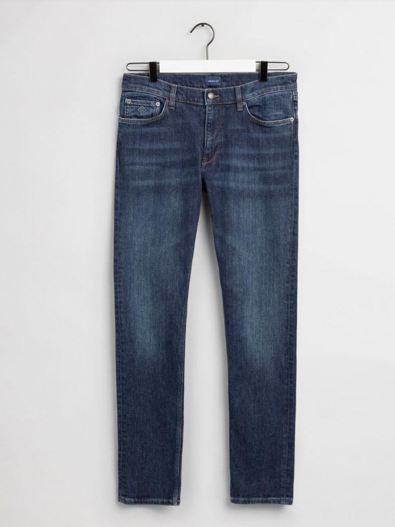 Gant Men Dark Blue Worn In Maxen Extra Slim Fit Jeans