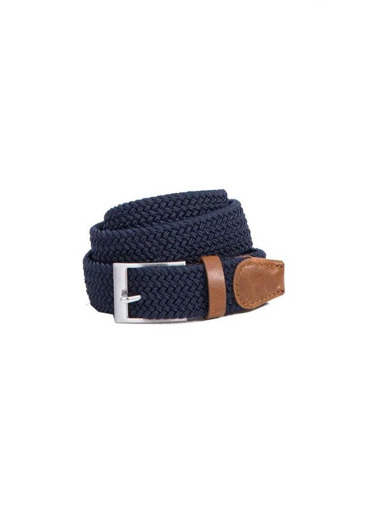 Tiffosi Boys Navy Braided Belt