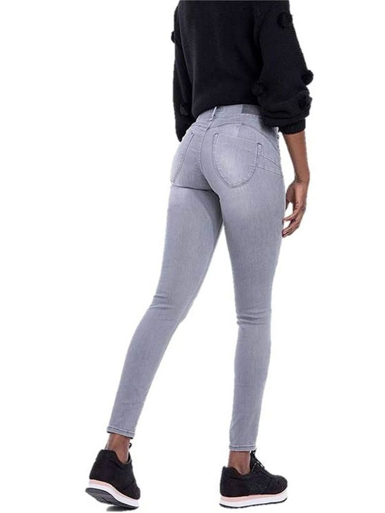 Tiffosi Grey One Size Fits All Double Up 22 Skinny Jeans