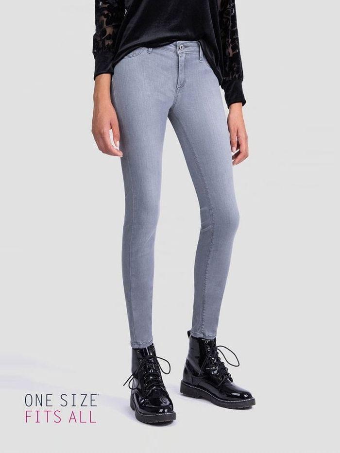Tiffosi Grey Wash High Waist One Size Skinny Jeans