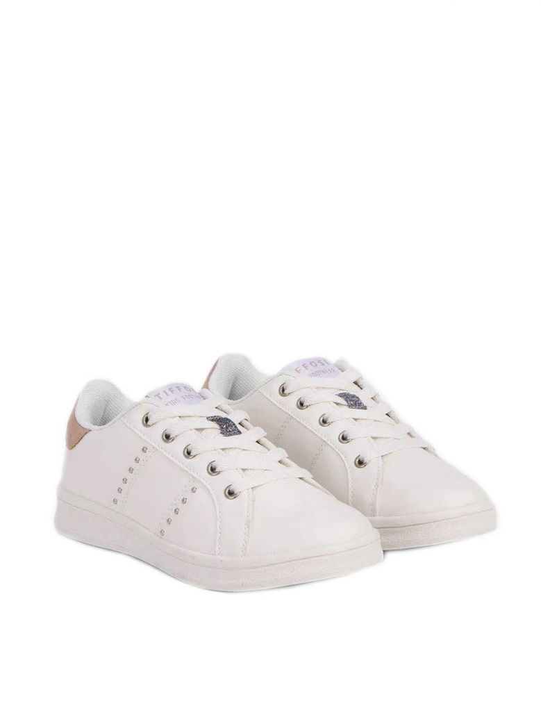 Tiffosi White Lace Up Trainers