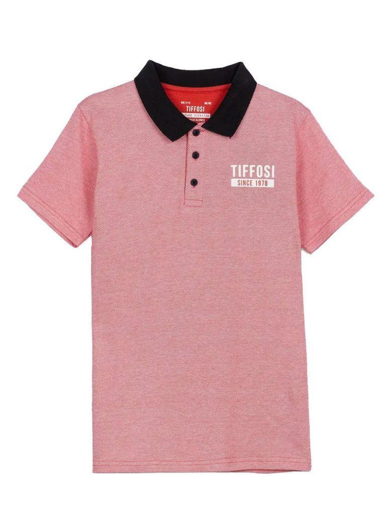 Tiffosi Red Short Sleeve Poloshirt