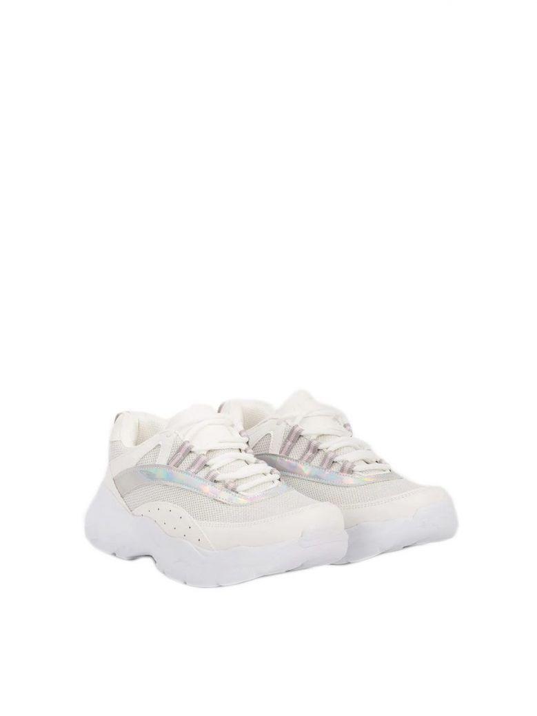 Tiffosi White Lace Up Glow Sneakers