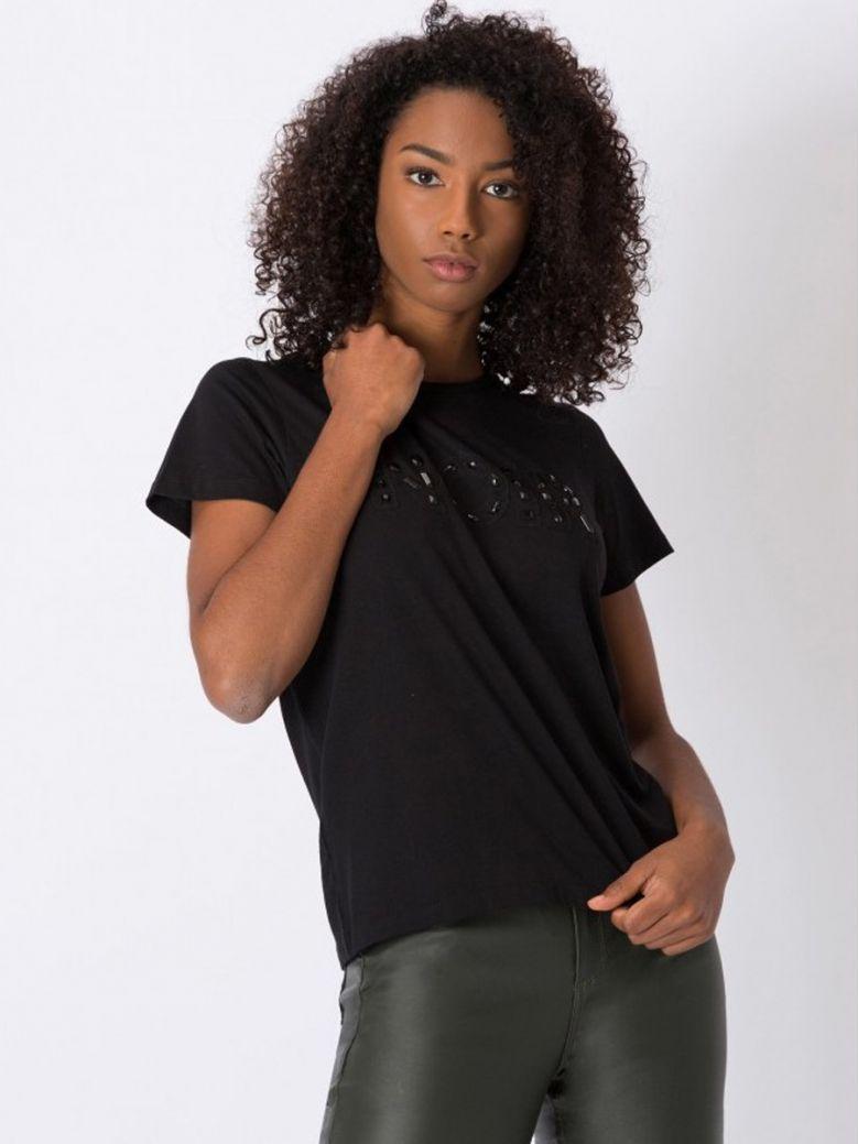 Tiffosi Black Noir Printed T-Shirt