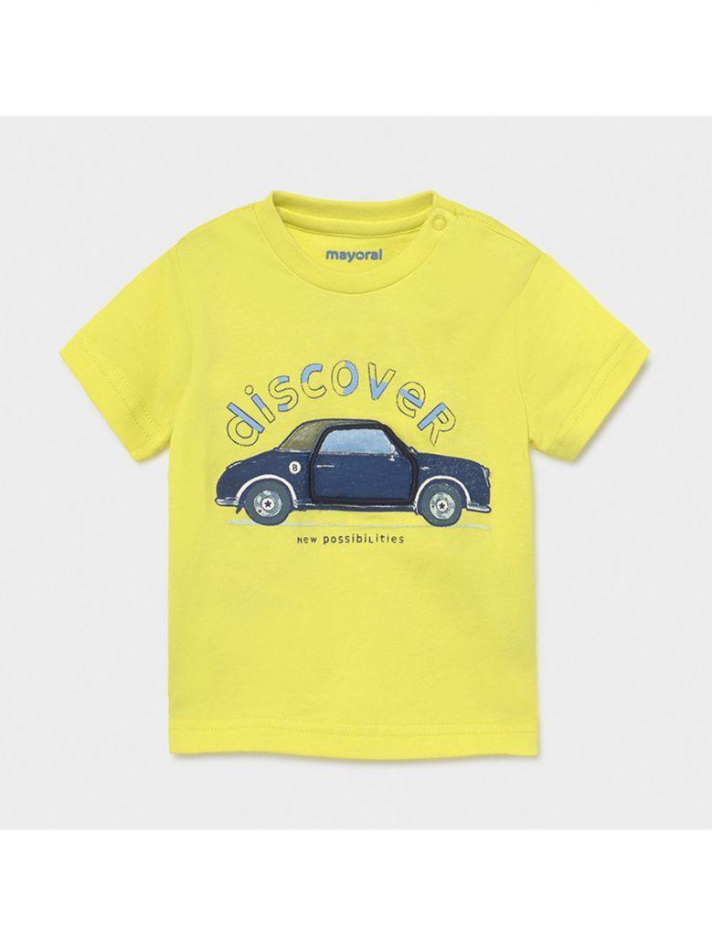 Mayoral Lime Car Interactive Print T-Shirt