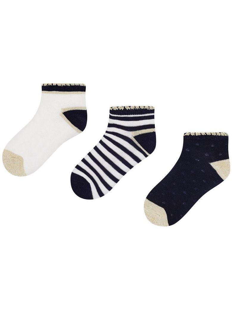 Mayoral Navy Set of 3 Socks