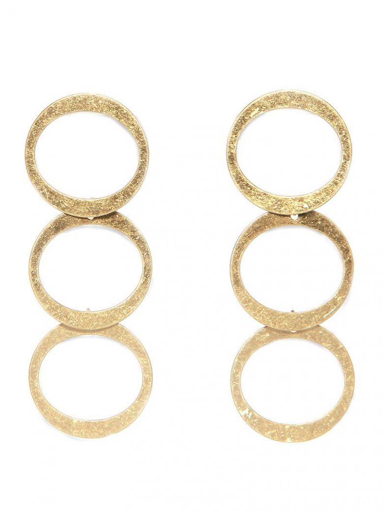Envy Gold Disc Drop Earrings