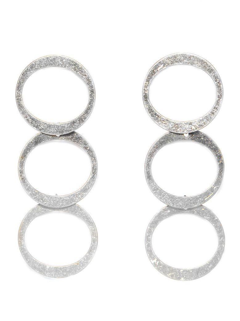 Envy Silver Disc Drop Earrings