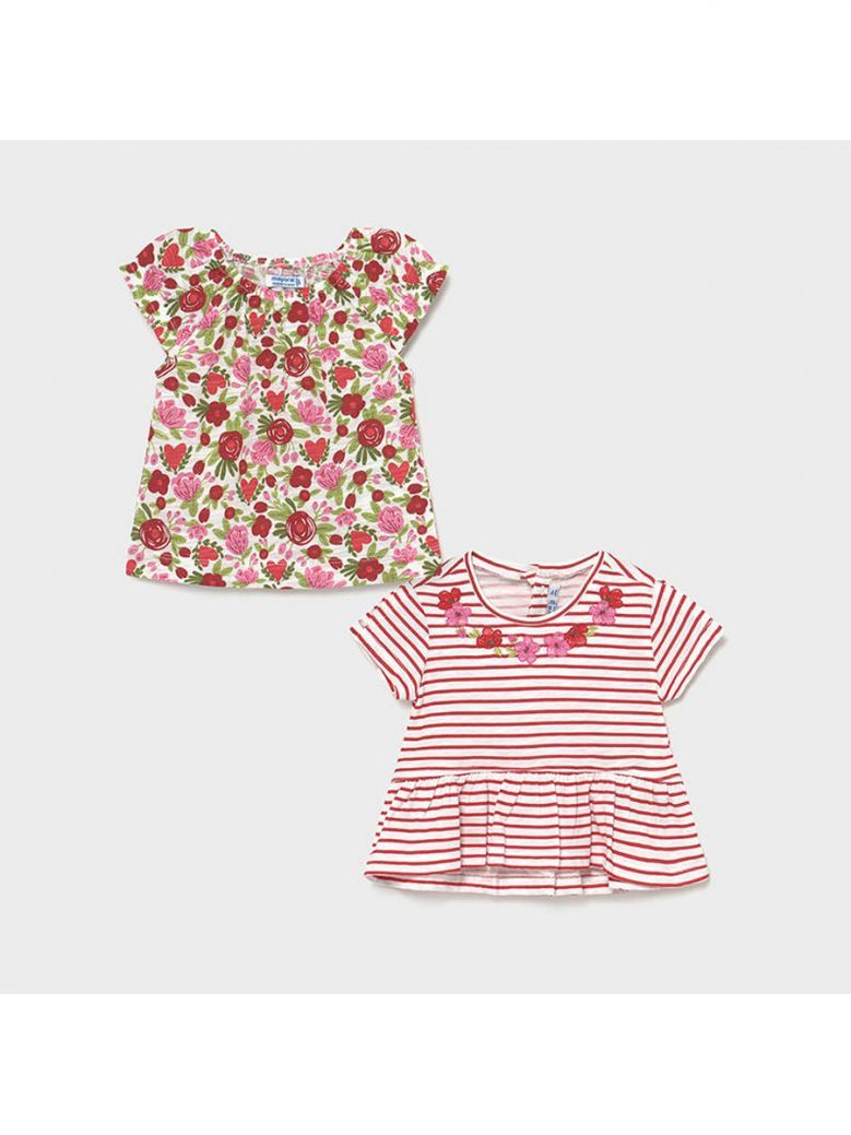 Mayoral Red Set of 2 T-Shirts for Baby Girl