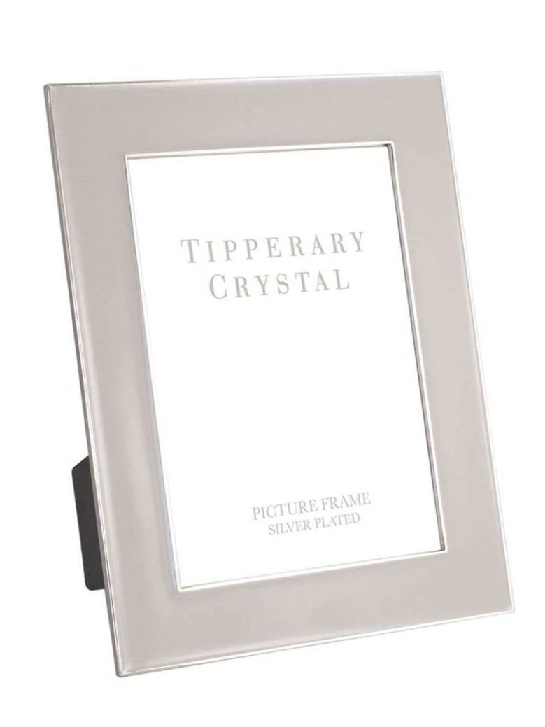 Tipperary Crystal Grey Enamel Frame with Silver Edging