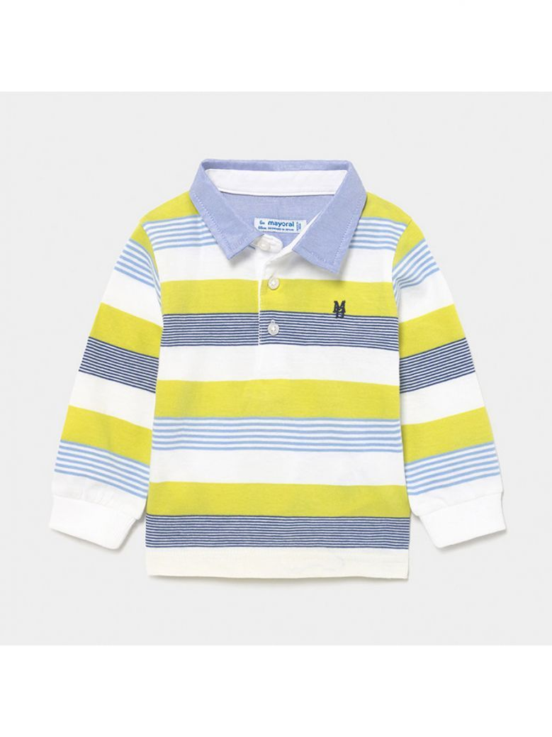 Mayoral Lime Long Sleeved Polo