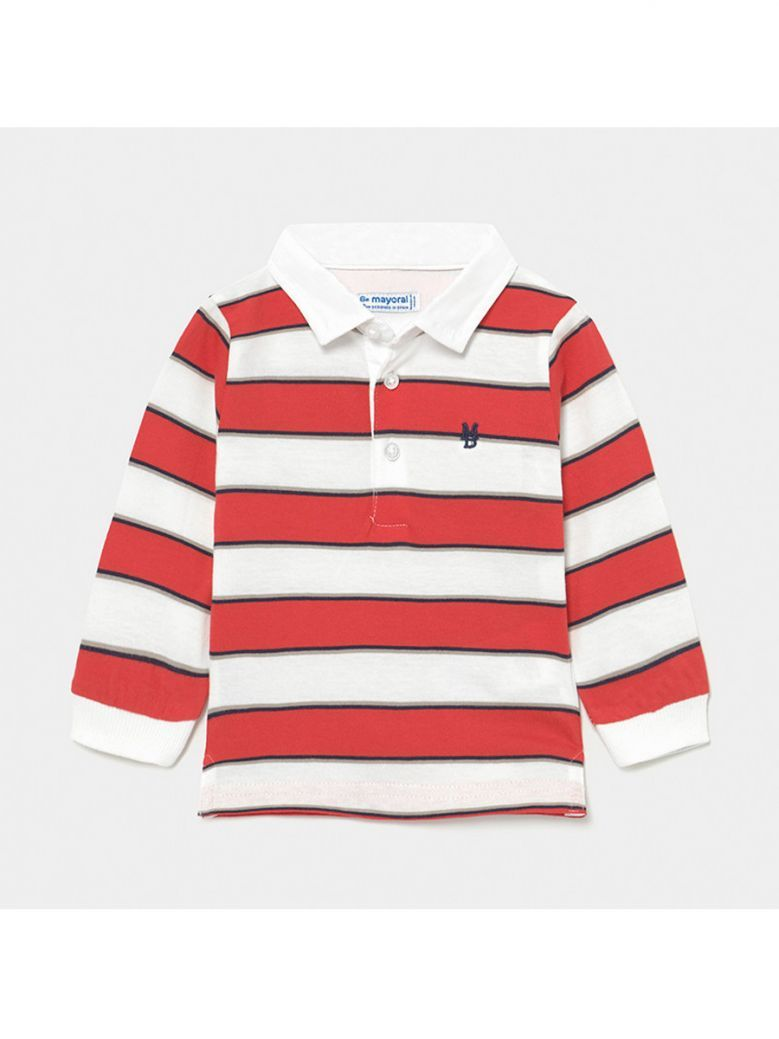 Mayoral Cyber Red Long Sleeved Polo