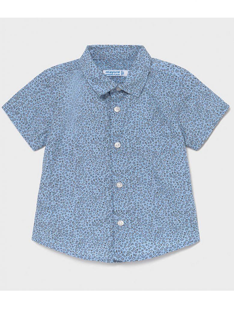 Mayoral Blue Print Long Sleeve Shirt