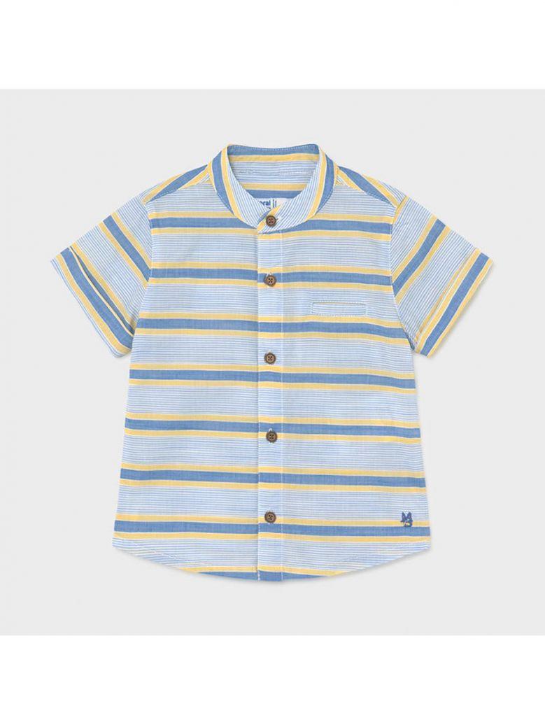 Mayoral Mango Grandad Collar Short Sleeved Shirt