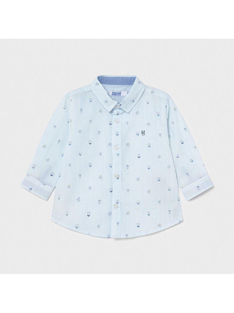 Mayoral Blue Dog Print Shirt