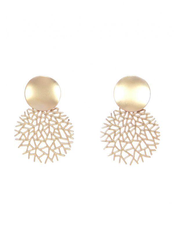 Envy Gold Matte Tree Drop Earrings