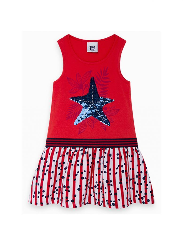 Tuc Tuc Kids Rojo Jersey and Viscose Dress