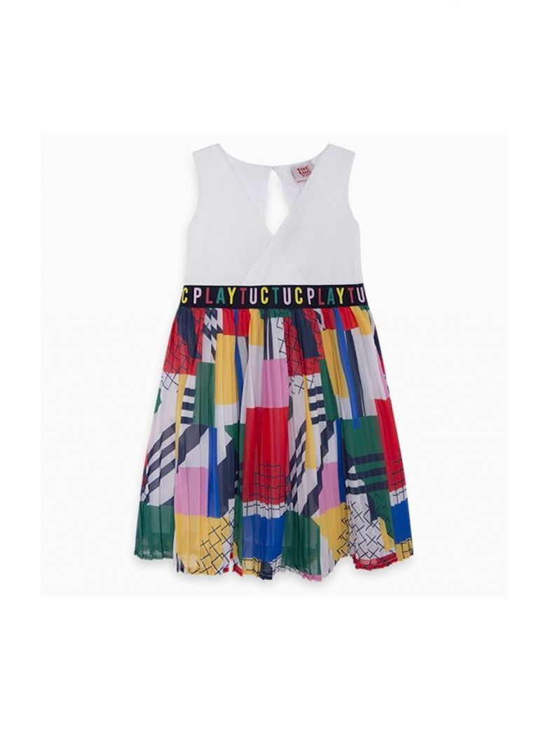 Tut Tuc Kids Azul Multi Vestido Crepe Player Dress