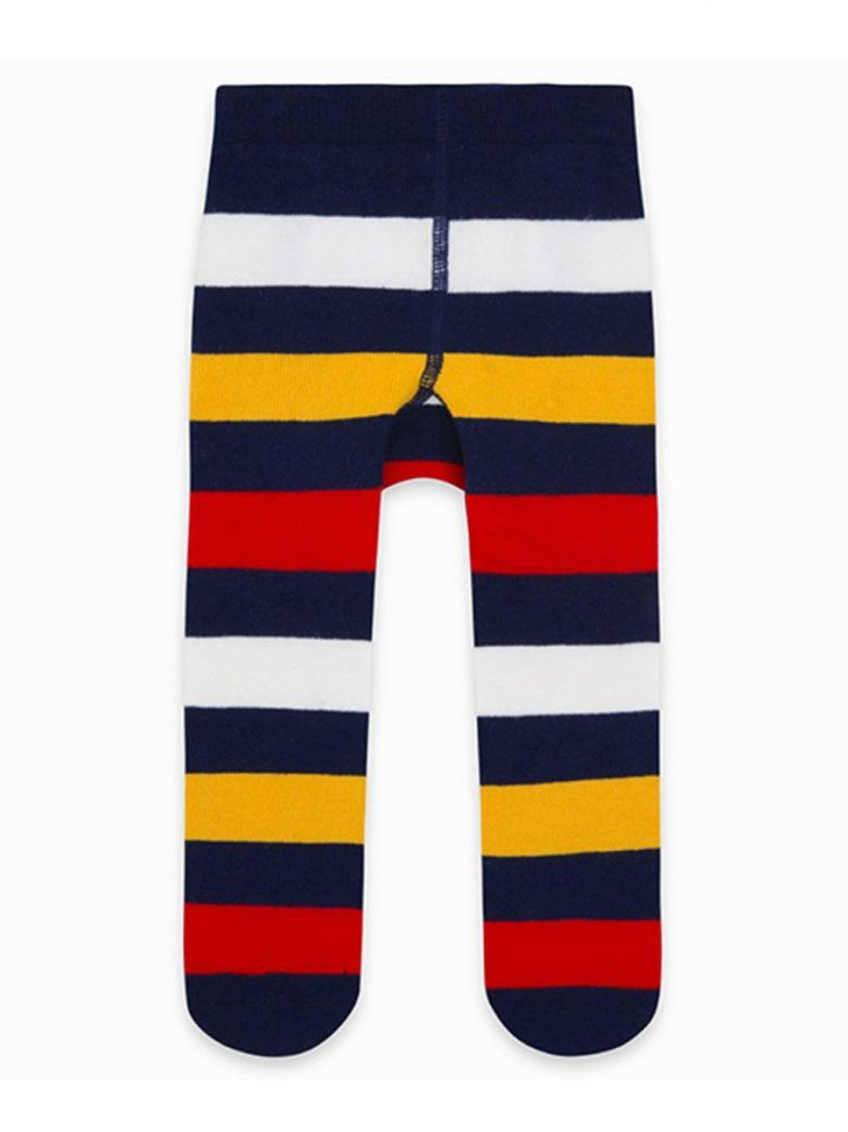 Tuc Tuc Navy/Multi Stripe Tights
