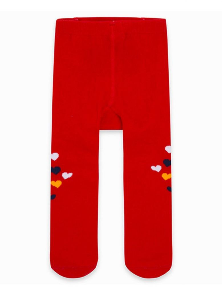Tuc Tuc Red Heart Print Tights