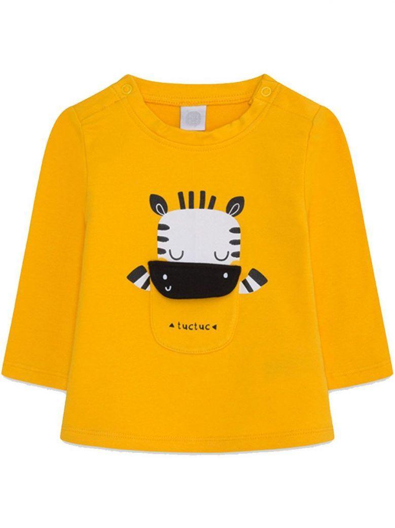 Tuc Tuc Mustard Zebra Print L/S Top