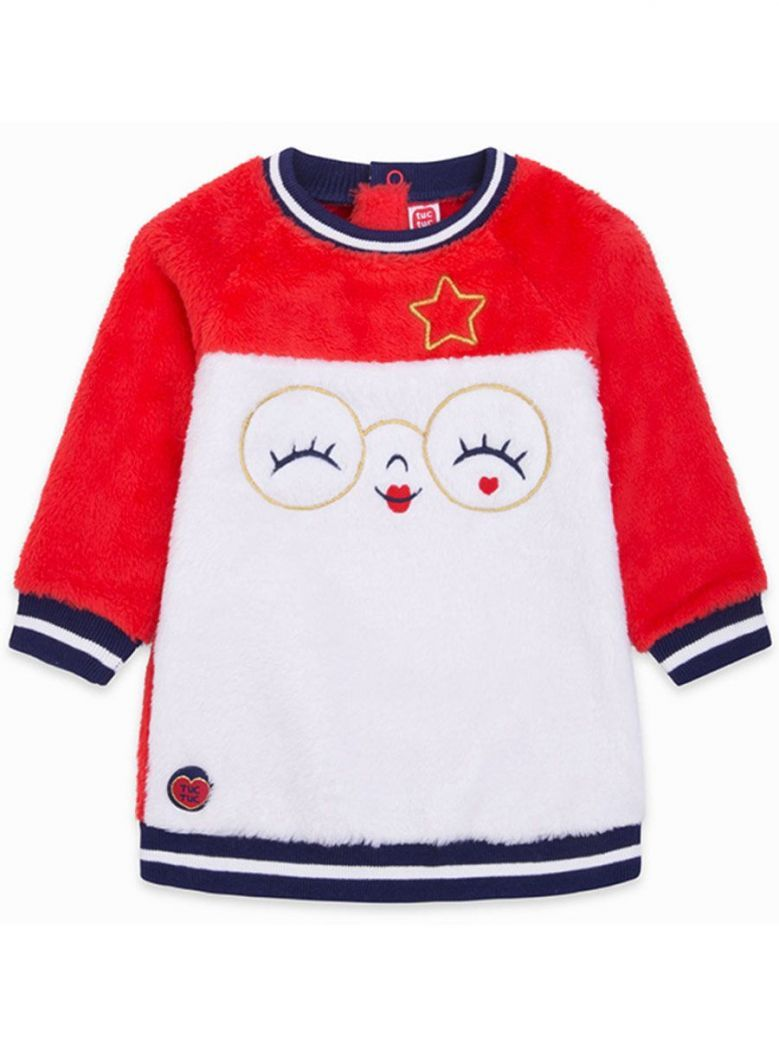 Tuc Tuc Cream & Red Fluffy Character Dress