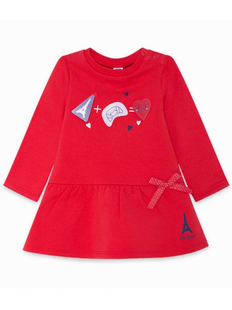 Tuc Tuc Red Long Sleeve Dress