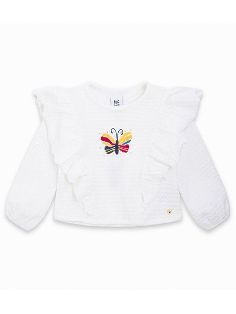 Tuc Tuc Cream Butterfly Embroidered Top