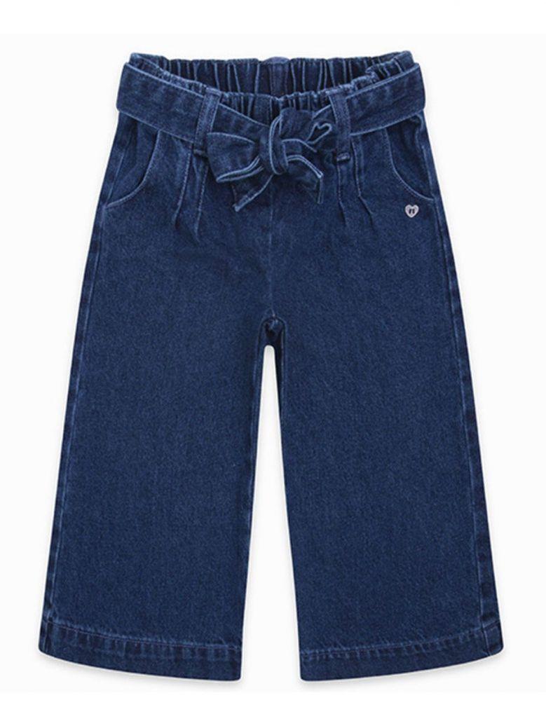 Tuc Tuc Denim Wide Leg Crop Jeans