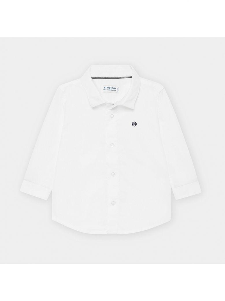 Mayoral Kids Blanco Long Sleeved Basic Oxford Shirt