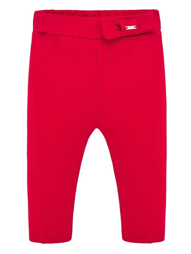 Mayoral Red Thick Knit Leggings